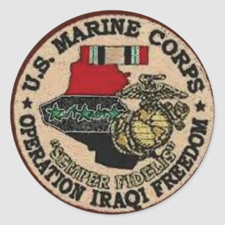 USMCイラクの退役軍人 ラウンドシール