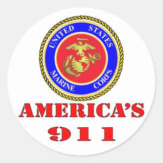 USMC米国海兵隊のアメリカ911 ラウンドシール