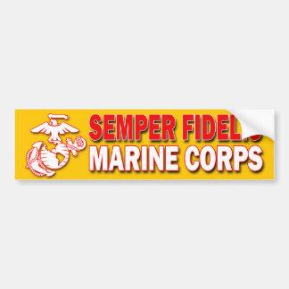 USMC Semper Fidelisのバンパーステッカー バンパーステッカー