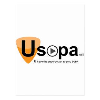 USOPAのSOPAをストップ超出力を有します ポストカード