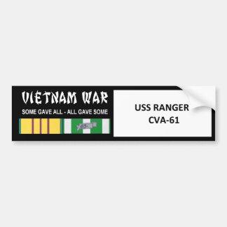 USSのレーンジャーのベトナム戦争の退役軍人 バンパーステッカー