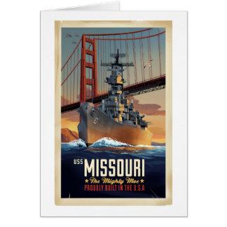 USSの戦艦ミズーリ カード