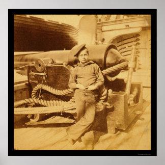 USSのPawnee 1862年の粉猿 ポスター