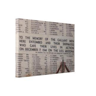 USSアリゾナの記念物 キャンバスプリント
