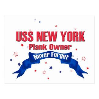 USSニューヨークの板の所有者 ポストカード