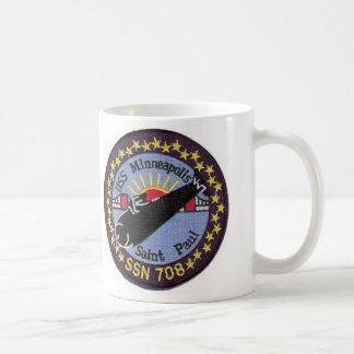 USSミネアポリスセントポールSSN 708のマグ コーヒーマグカップ