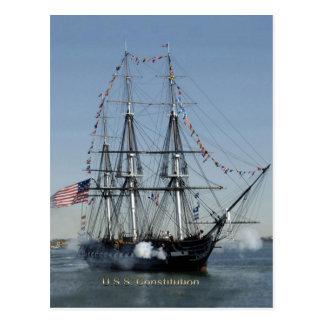 USS憲法の発砲の大砲 ポストカード