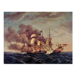 USS憲法対HMS Guerriere ポストカード