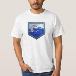 USS Cahokia ATA-186のロゴ Tシャツ