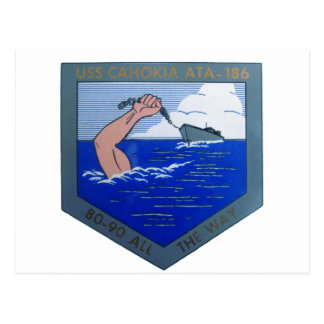 USS Cahokia ATA-186 ポストカード