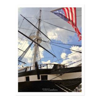USS Constellationの高い船のボルティモアの内部港 ポストカード