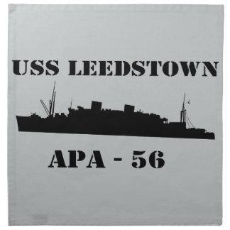 USS Leedstownのシルエット- APA 56 ナプキンクロス