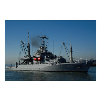 "USS Safeguard""、海難救助および修理場 ポスター"