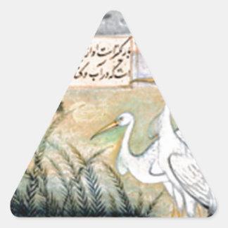 Ustad Mansur著クレーン 三角形シール