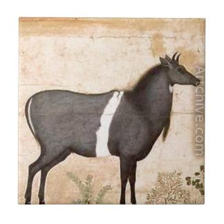 Ustad Mansur著Nilgaiの青い牛 タイル