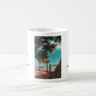 UtagahamaのビーチHasui KawaseのChuzenjiの寺院 コーヒーマグカップ
