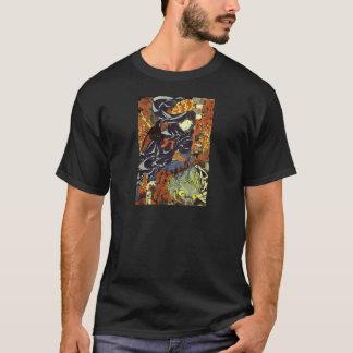Utagawa著巨大なくもを刺すKamigashihime Tシャツ