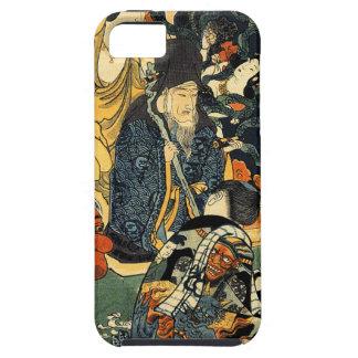 Utagawa著彫像によって囲まれるJingoro彫刻家 iPhone SE/5/5s ケース