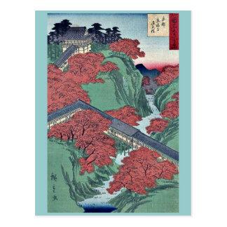 Utagawa、Hiroshige著京都のTofukujiの寺院 ポストカード