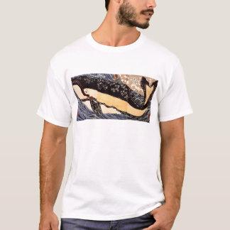 Utagawa Kuniyosh著クジラの背部のMusashi Tシャツ