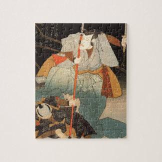 Utagawa Kuniyoshi著征服される武士および ジグソーパズル