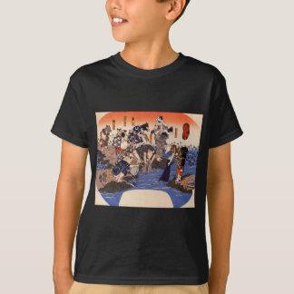 Utagawa Kuniyoshi著生地を染めている動物 Tシャツ