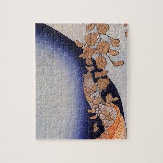 Utagawa Kuniyoshi著藤の下の赤いコイ ジグソーパズル