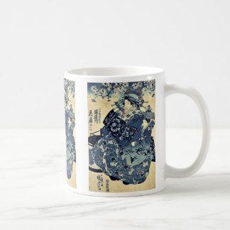 Utagawa、Kuniyoshi著Ogiyaのcourtesan Hanao コーヒーマグカップ