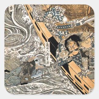 Utagawa Kuniyoshi著Taira Tomomoriの幽霊 スクエアシール