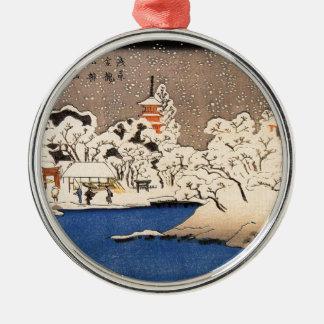 Utagawa Kuniyoshi - Senso-jの雪 メタルオーナメント