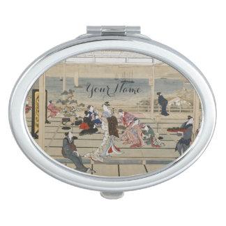 Utamaroの日本のな芸術のカスタムな小型の鏡