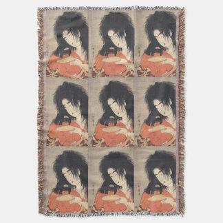 Utamaroの日本のな芸術の投球毛布 スローブランケット
