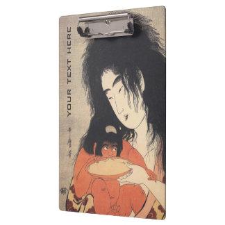 Utamaroの日本のな芸術の習慣のクリップボード クリップボード