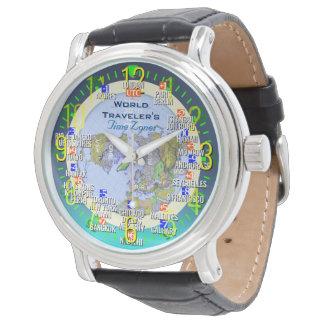 UTCの世界旅行者の時間帯 腕時計