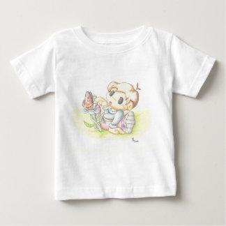Utieおよび蝶Tシャツ ベビーTシャツ