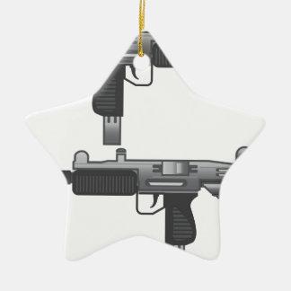 Uzi銃のベクトル セラミックオーナメント