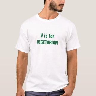Vつはベジタリアンのためです Tシャツ