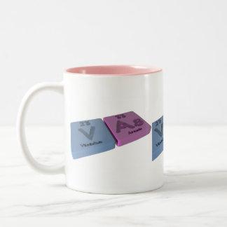 Vバナジウムとヒ素としてヴァシュ県 ツートーンマグカップ