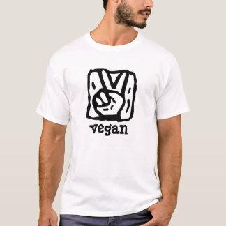 Vピースマークのビーガン Tシャツ