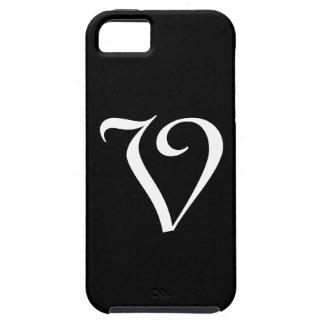 Vモノグラムの黒いIPhone 5の箱 Case-Mate iPhone 5 ケース