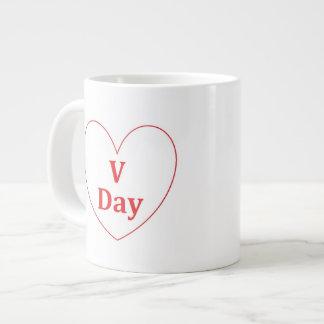 V日のジャンボマグ ジャンボコーヒーマグカップ