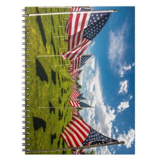V日の記憶の米国旗の分野 ノートブック
