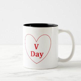V日の黒11のozのツートーンマグ ツートーンマグカップ