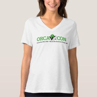 V首とOrcaConの女性 Tシャツ
