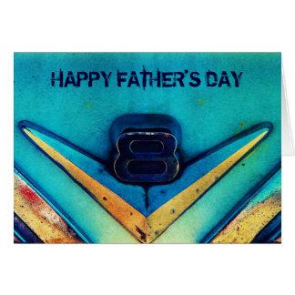 V8エンジンの整備士のための幸せな父の日 グリーティングカード