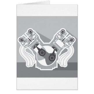 V8エンジンの横断面のベクトル カード