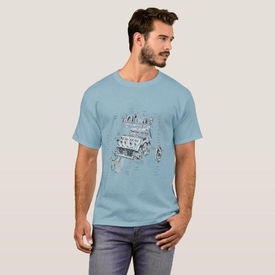 V8エンジン Tシャツ
