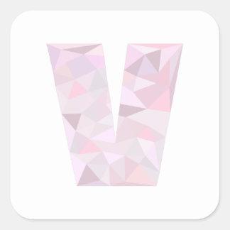 V -低い多三角形-中立ピンクの紫色の灰色 スクエアシール