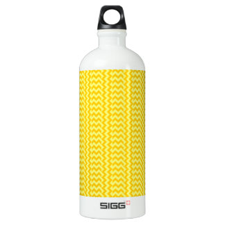 V&Hのシンプルなジグザグ形-黄色および蜜柑の黄色 ウォーターボトル