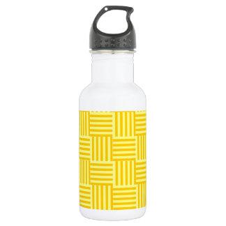 V&Hは-黄色および蜜柑の黄色縞で飾ります ウォーターボトル